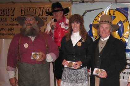 Trail Boss and Ramrods awards to Smokehouse Dan, Annabelle Bransford and Rowdy Bill.