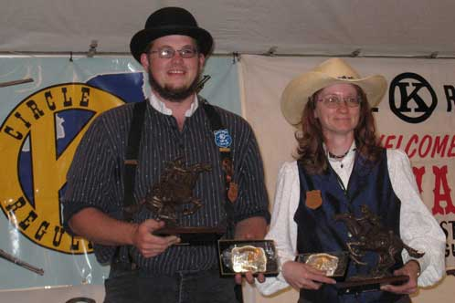 Cartwheel and Southpaw Slingin' Sally - 2008 SASS NY State Champions